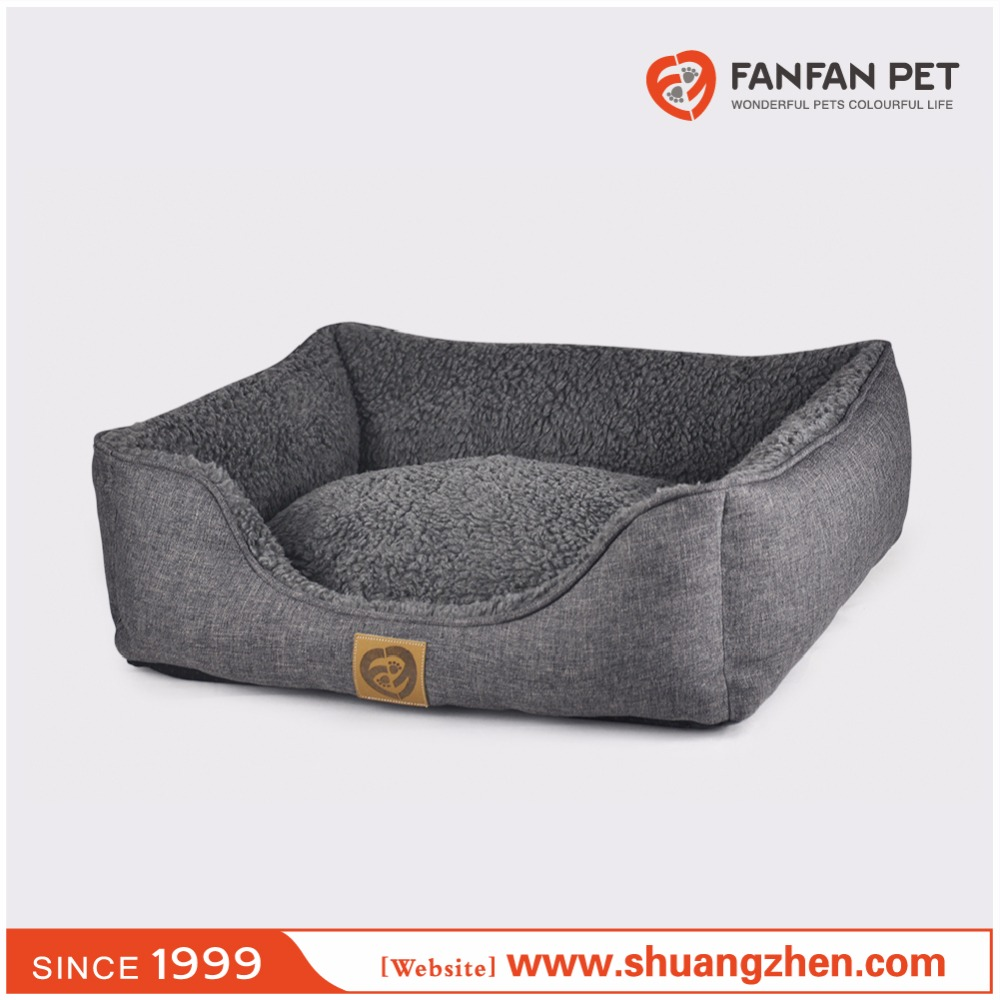 Rectangle daydreamer soft plush dog bed