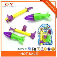Funny ejection toy shooting water rocket toy for sale