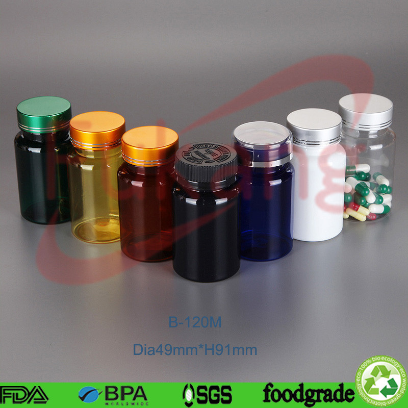 120ml pharmaceutical tablet packaging, pill tablets plastic bottle, pet bottles manufacturer in China