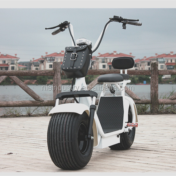 City Bike 1200W Brushless Adult Electric Scooter 2 WheelsElectric Motorcycle 2017 hot citycoco