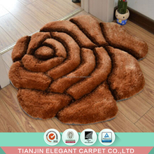 elegant shaggy 3d silk rugs for sale 100% polyester shaggy carpet rug
