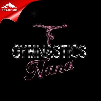 Nana Gymnastics design  rhinestone transfer for tshirts