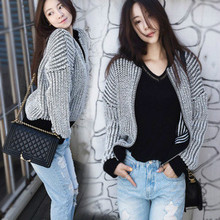 Dropshipping women clothing fashion cotton gray sweater for lady woman cardigan sweater