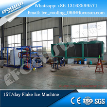 Focusun 15T fresh water flake ice machine used for stirring and mixing