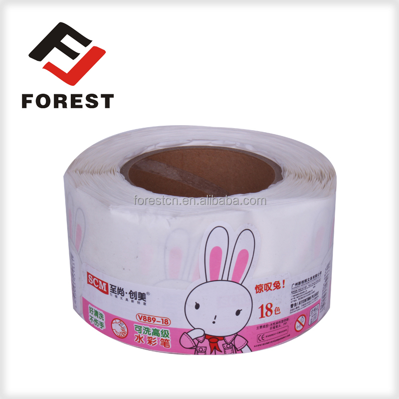 Cheap price self adhesive pencil roll sticker label