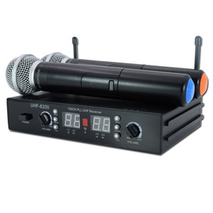 UHF-6001 factory sales Fix Teaching 1 Channel Antenna PLL FM UHF Wireless Microphone with handheld transmitter