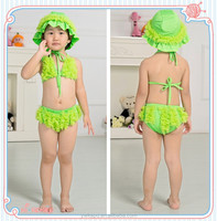 Wholesale color changing swimwear kids bathing suits