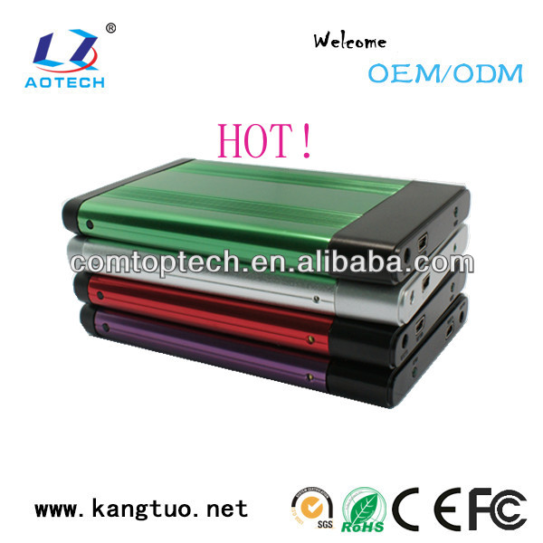 aluminum encloure hdd, colorful case hded for server