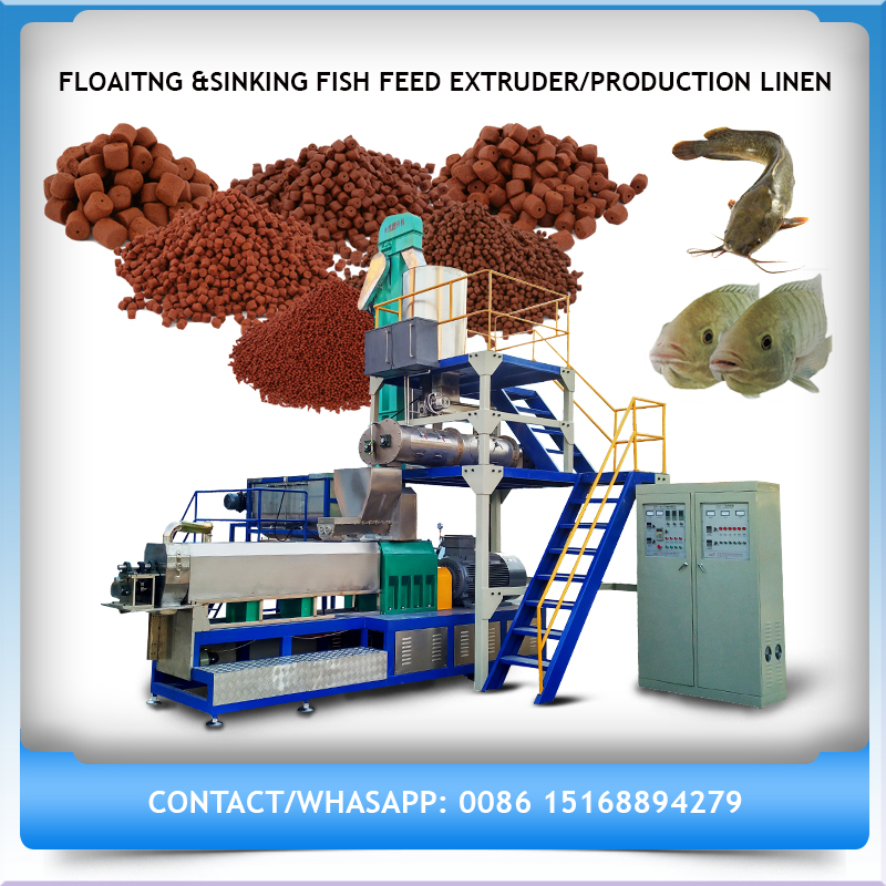 Crispy, Chewing Pet Food/Fish Food Process Line