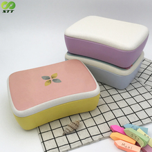 Creative Cute biodegradable and eco Bamboo Fibre Insulated Bento Kids Lunch Box
