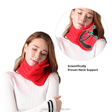 Alibaba Reliable Supplier Office Travel Pillow Scarf with Polyester& OEM Portable Neck Scarf Pillow