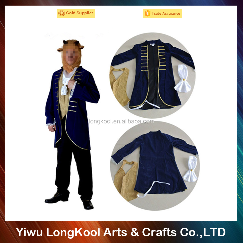 New arrival halloween funny adult costume Beauty and the beast cosplay costume