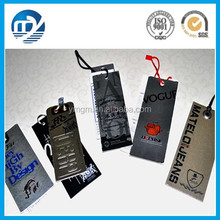 Fashionable custom recycled paper hang tag for clothing
