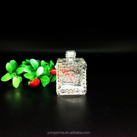 French Hot Style Water Cube Perfume and Diffuser Square Glass Bottle in 80 ml