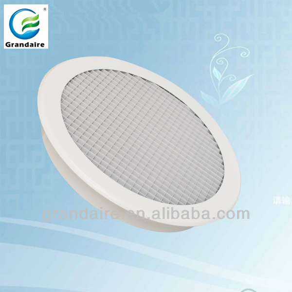 Round eggcrate return grille for central air condition system