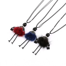 NL257 JN Costume ladies Jewelry necklace black color Alloy dancing girl Design Pendant Necklace for Women