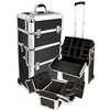 Aluminum Frame Black Strap Abs Trolley