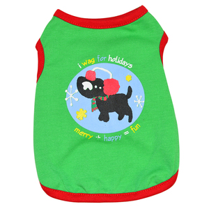 xxx small green designer cute pet clothing xmas dog t-shirt