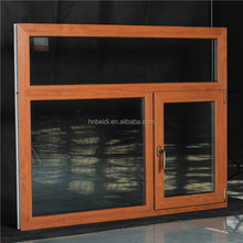Large upvc window grill design producing swing casement reinforcement upvc glass window with large fixed window