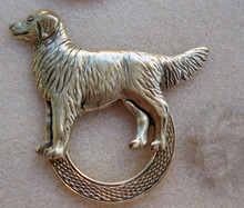NEW antique brass plating dog eyeglass holder brooch pins
