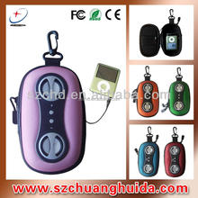 New products mobile phone coolest mini 2.0 channel speaker case for all hindi mp3 song