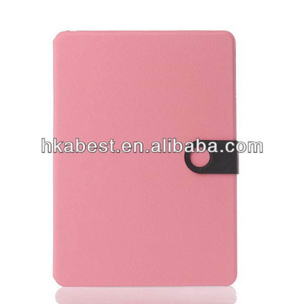 Contrast Color Pebble Grain Leather Case For iPad Air,For Apple iPad Air Book Style Case Cover