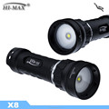 High Brightness Powerful LED Diving Flashlight X8