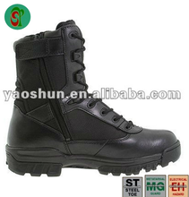 Men's Black patent leather special forces motorcycle police millitary boots
