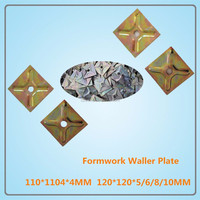 High Quality galvanized formwrok water stop plate/wall plate