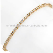 Absolute 3mm Gold Jewlry Tennis Bracelet Round Beads Jewelry Chains Bracelet