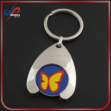 trolley coin coin holder token metal keychain with logo