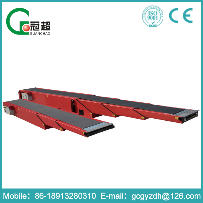 GUANCHAO-ISO certificate approved CE standard safety protection device canvas telescopic belt conveyor for handling material