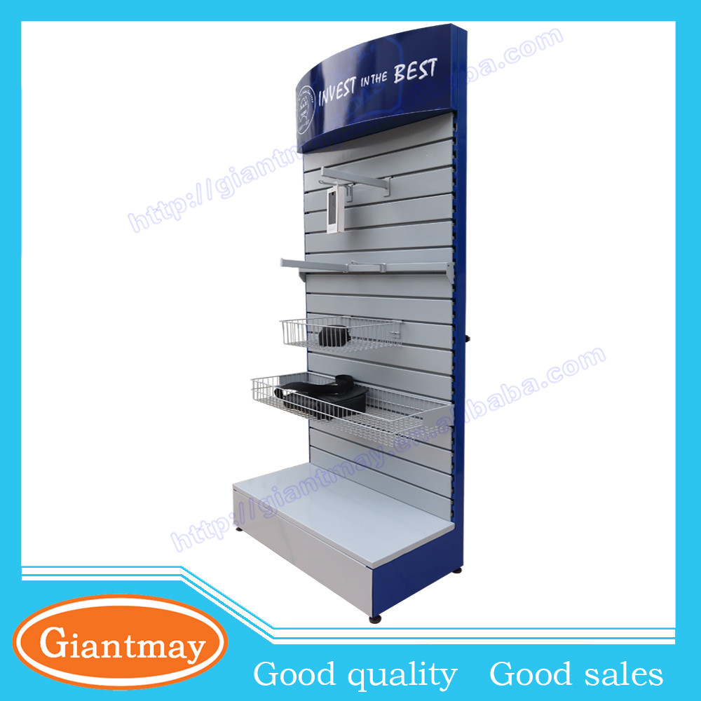 hot sales slotted display slat wall stand