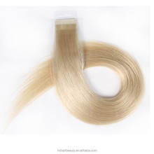 Top quality wholesale short hair tape extensions single sided seamless tape in hair extensions