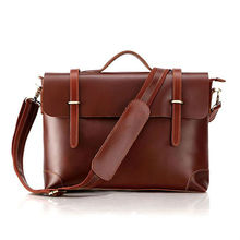 7082B J.M.D New Fashion Messenger Bag Ren Brown Genuine Leather Briefcase Bag For Women
