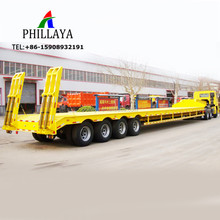 Gooseneck Platform Container Transport 40FT Trailer/Multi Use 4Axles Lowbed Semi Trailer With Twist Locks