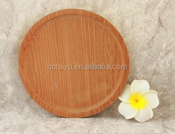 Cheap Round Wooden Serving Plate for Food