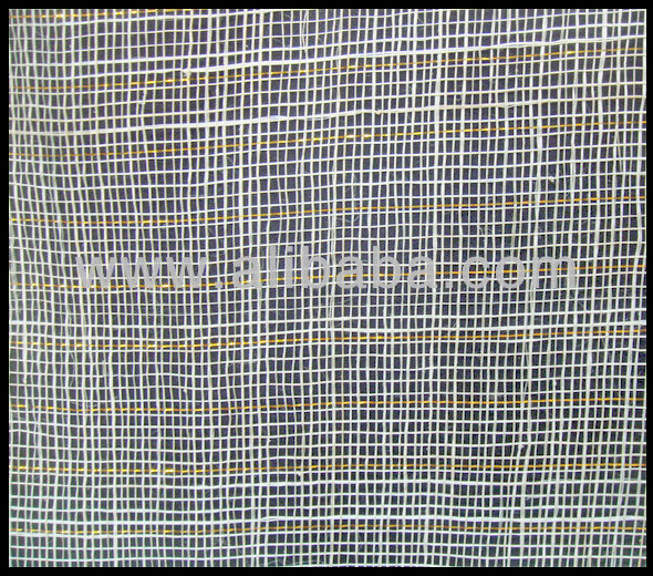 Sinamay Fabric (Abaca with Gold Lurex)