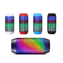 home theater led light new product multifunctional music oem waterproof wireless microphone mini portable speakers with fm radio