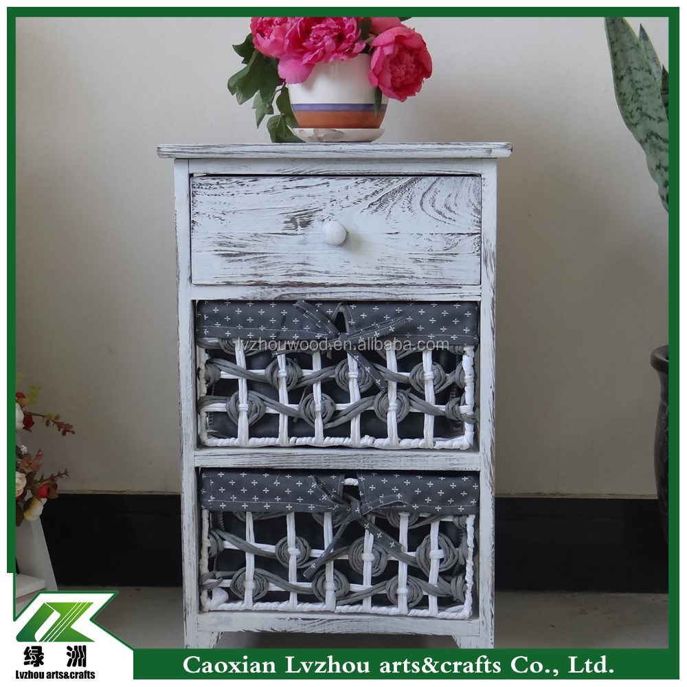 European style antique living room wood cabinet with drawers