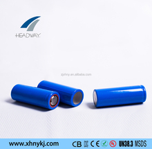 Headway rechargeable lithium ion NMC battery 18650 3.7v 2600mah cell for machine