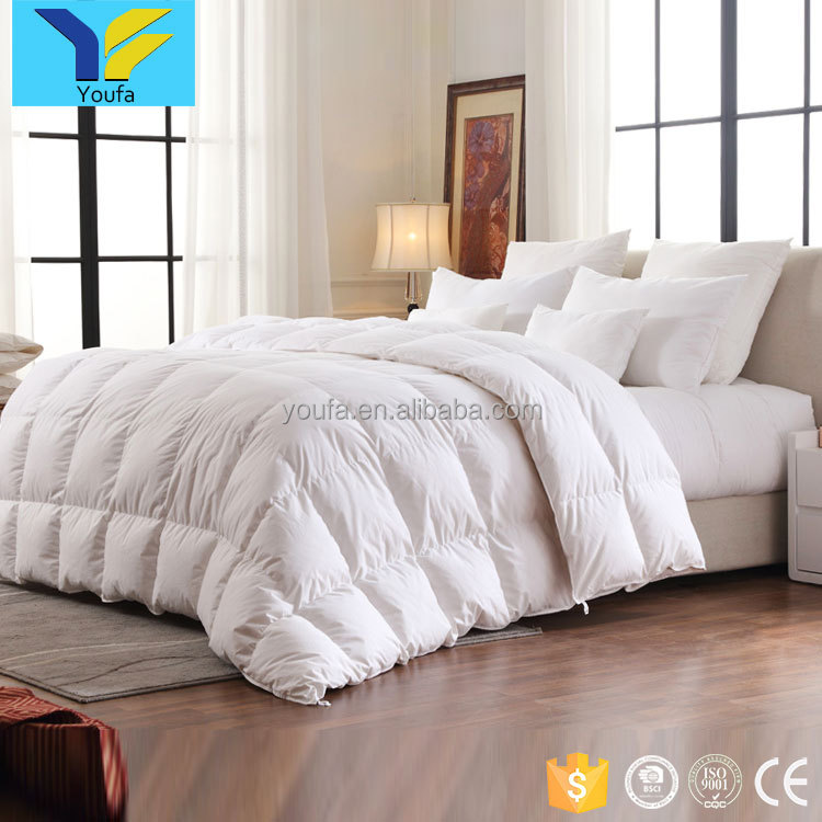 China wholesale white queen size custom hotel duvet sets goose down cotton quilt bed comforter set