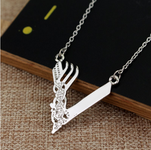 Hot Movies Vikings Icon Tv Series Necklace Minnesoca Vikings Logo Pendant Ragnar Lodbrok Silver Color Chian Necklace Jewelry