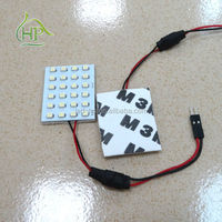 4*6 festoon ledlight 24smd 12v Panel Bulb T10