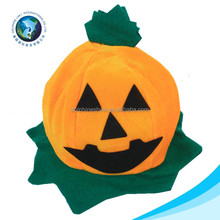 Cheap funny halloween day gift soft plush toy festival pumpkin halloween hat for kids