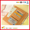 A5 Leather Notebook Paper Spiral Notepad Notebook Binder Fashion Organizer With Business Card Holder