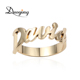 2018 new products Skinny Name in Sterling Silver gold ring jewelry Personalized Fashion gold ring name designs