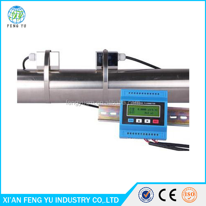 Portable digital ultrasonic flowmeter / flow meter/digital water meters with the function of print
