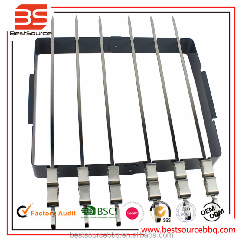 Barbecue Skewer Shish Kabob Set BBQ Kebab Rack Maker for Meat & Vegetable Portable Stainless Steel Kabab Stick for Cooking