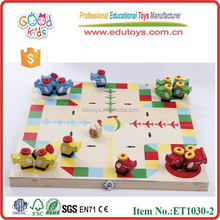 Children Pirates Flying Chess Wooden Classic Board Game